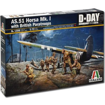 Italeri As.51 Horsa Mk1/11 & Brit Para D-Day 1356 1:72 Aircraft Model Kit