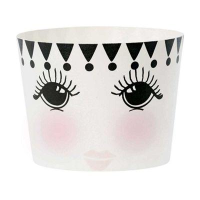 Miss Etoile Set of 24 Eyes Open Design Paper Baking Cups Ø 6 x H 4.7 cm
