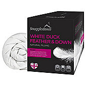 Snuggledown white duck feather & down 10.5 King Duvet