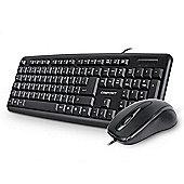 Compoint USB Keyboard and Optical Mouse Desktop Set (Black)