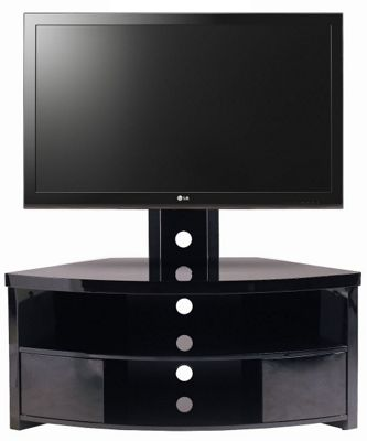 Gecko High Gloss Black TV Cabinet with Bracket