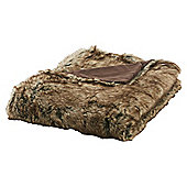 Tesco Faux fur Throw Brown