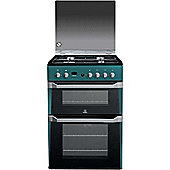 Indesit Gas Cooker with Gas Grill and Gas Hob, ID60G2N/UK - Green