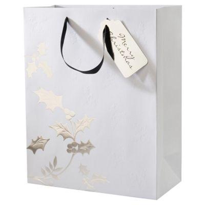 Tesco Holly Gift Bag, Large