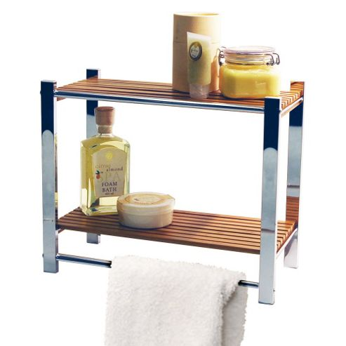 Techstyle Bathroom Wall Storage Shelf / Towel Rail