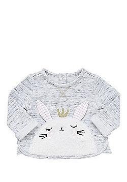 F&F Bunny Face Appliqu© Sweatshirt - Grey