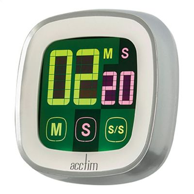 Acctim 55132 Scroll Kitchen Timer - Silver