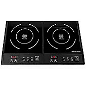 Andrew James Double Induction Hob, Portable, Digital Controls - 2800 Watts