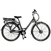 Connect Womens Low Step Electric Hybrid City Bike, Grey