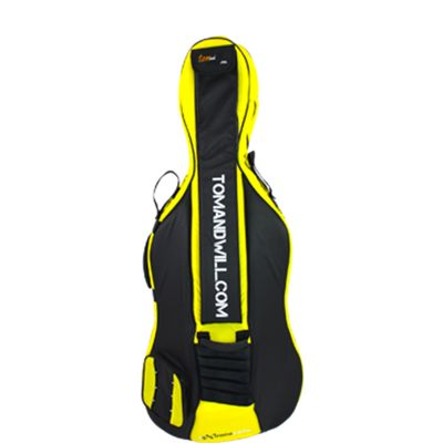 Tom and Will 4/4 Size Cello Bag - Black & Yellow