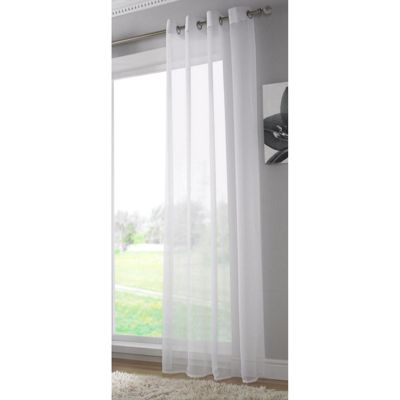Alan Symonds Plain White Single Voile - 58x72 Inches (147x183cm)