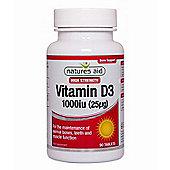 Natures Aid Vitamin D3 1000iu (25ug) High Strength - 90 Tablets