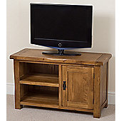 Cotswold Rustic Solid Oak Small Tv Unit Cabinet