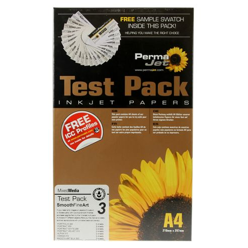 A4 PermaJet Smooth Fine Art Paper Test Pack - 14 sheets