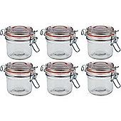 Argon Tableware Preserving / Jam Glass Storage Jars - 200ml - Pack of 6