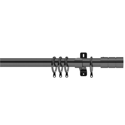Swish Elements 28mm Brooklyn Graphite Curtain Pole - 180cm