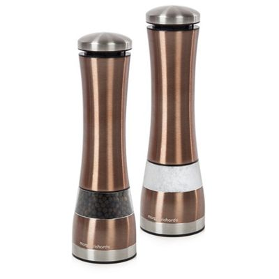 Morphy Richards Accents Electronic Salt & Pepper Mill - Copper