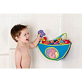 Munchkins Corner Bath Organiser For Bath Toys Blue
