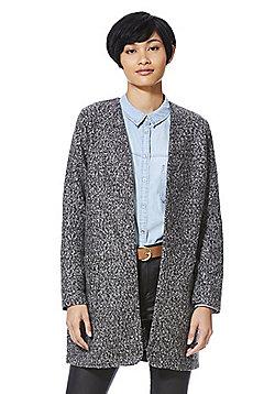 F&F Collarless Boucle Jacket - Dark grey
