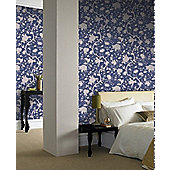 Graham & Brown Botanic Wallpaper - Blue