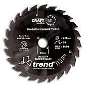 Trend CSB/18440 Craft Saw Blade 184mm X 40 Teeth X 16mm - Silver