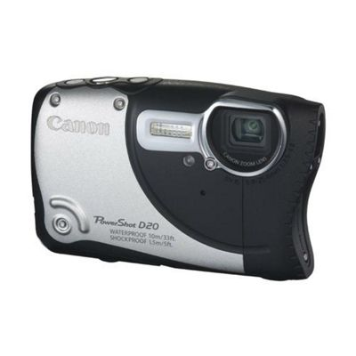 Canon PowerShot D20 Digital Camera, Black, 12.1MP, 5x Optical Zoom, 3.0 inch LCD Screen