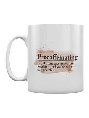 Procaffeinating 10oz Ceramic Mug, White