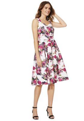 Izabel London Floral Prom Dress Pink Multi 14