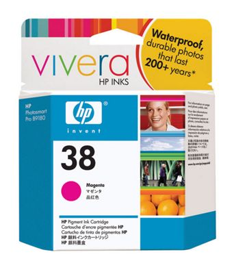 HP 38 Pigment Ink Cartridge with Vivera Ink - Magenta