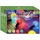 Battery Operated LED Bulb Party Timer Light - Multi-Colour (Set of 20)