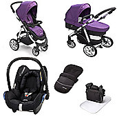 Mee-go Pramette Maxi Cosi Travel System - Purple