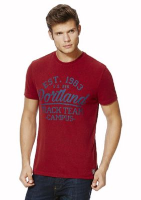 F&F Collegiate Portland T-Shirt L Red