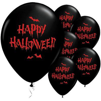 Happy Halloween Haunted Bats Balloons - 11 inch Latex - 25 Pack