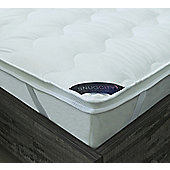 Snug City Small Double Dual Layer Mattress Topper Air Flow Hypo Allergenic Soft Touch Bedding