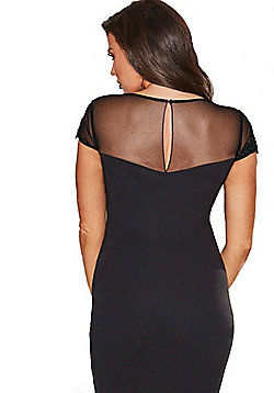 Jessica Wright Laurie Mesh Embellished Bodycon Dress - Black