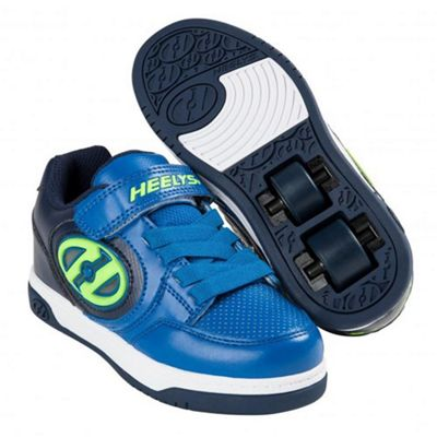 Heelys Plus Lighted Navy/Blue/Yellow Kids Heely X2 Shoe JNR 11