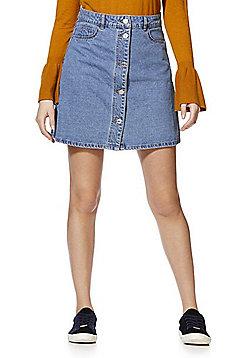 Noisy May A-Line Denim Skirt - Mid wash