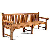 BrackenStyle Queensbury Teak Bench - 6 Seater