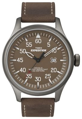 Timex Expedition Mens Leather Backlight, Date Watch T49874