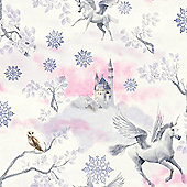 Fairytale Unicorn Wallpaper - Lilac - Arthouse 667801