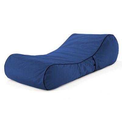 Loft 25 Water Resistant Bean Bag Sun Lounger - Blue
