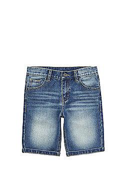F&F Five Pocket Denim Shorts - Mid wash