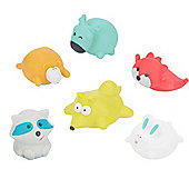 Badabulle 6 Pack Bath Toys (Mountain Animals)