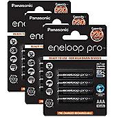 12 x Panasonic eneloop pro AAA 900 mAh Rechargeable Batteries RTU NiMH HR03 Phone