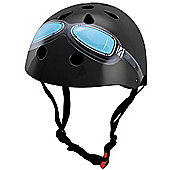 Kiddimoto Helmet - Black Goggles - Medium