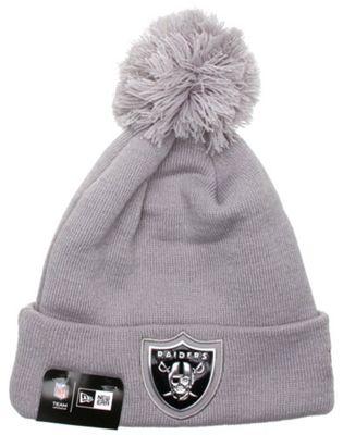 New Era Cap Co Logo Shine Bobble Beanie - Oakland Raiders