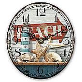 Beach Clock, Oval Shaped