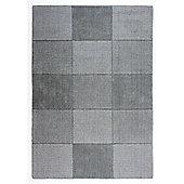 Wool Squares Wool Squares Light Grey Runner 60x230cm