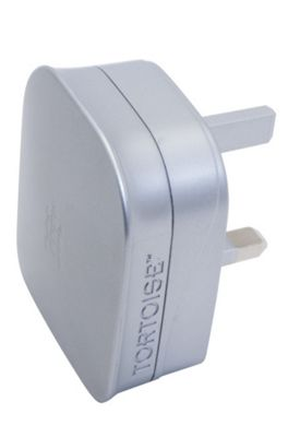 Tortoise™ Ultra Universal Dual USB Mains Charger, Silver.