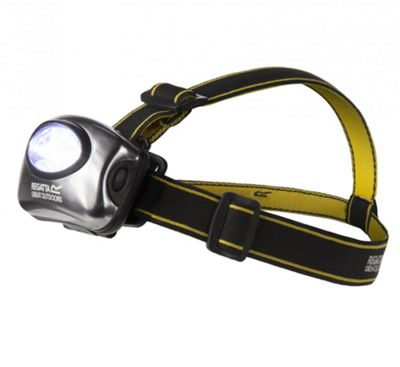 Regatta 5 LED Head Torch - Black/Seal Grey